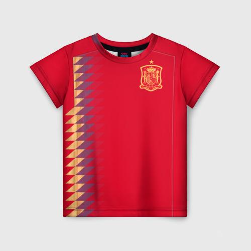 Детская футболка 3D Испания ЧМ 2018