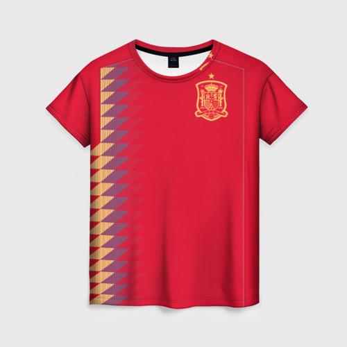 Женская футболка 3D Испания ЧМ 2018