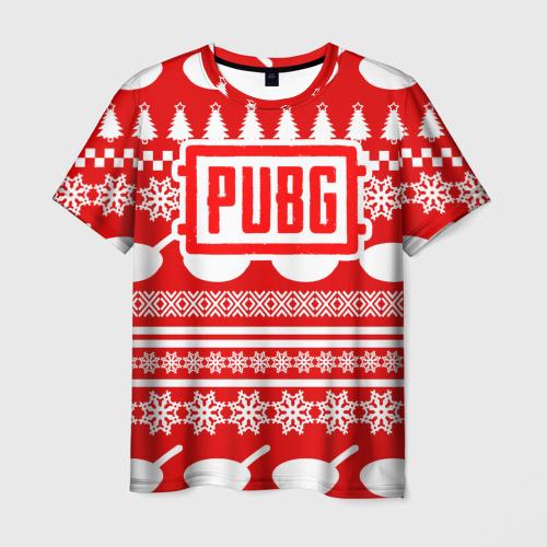 Мужская футболка 3D PUBG Новогодняя защита