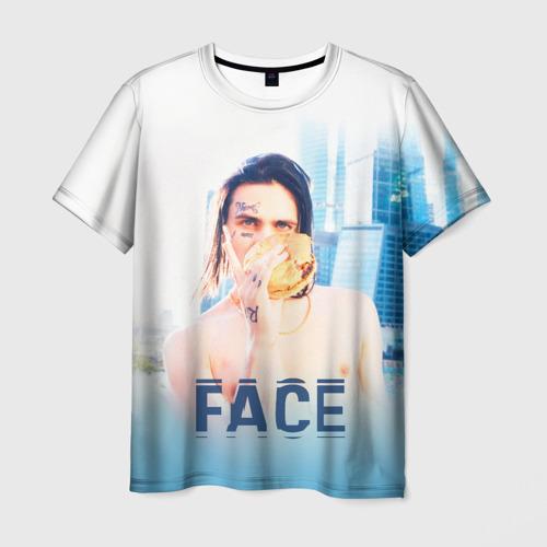 Мужская футболка 3D Face and Burger