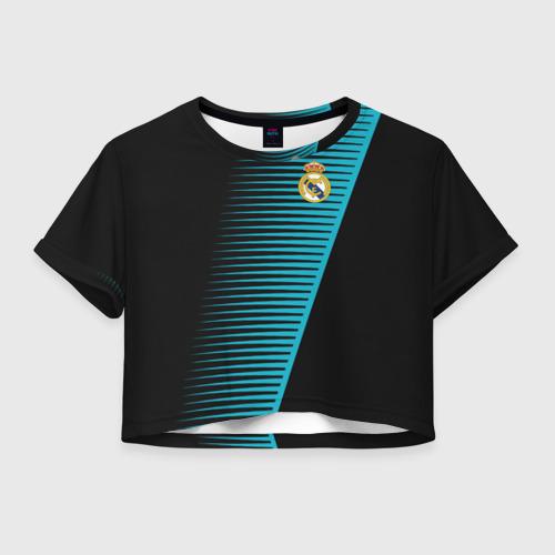 Женская футболка Crop-top 3D Real Madrid Creative uniform