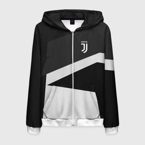 Мужская толстовка 3D на молнии Juventus 2018 Geometry Sport