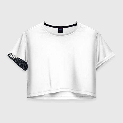 Женская футболка Crop-top 3D Лев