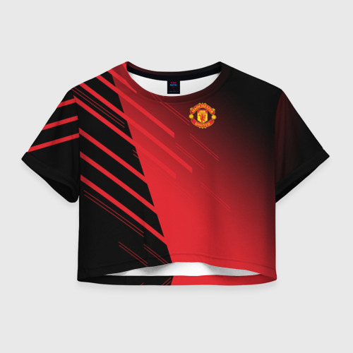 Женская футболка Crop-top 3D F.C.M.U 2018 Geometry Sport