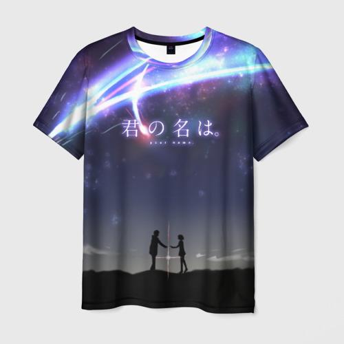 Мужская футболка 3D Your name_2