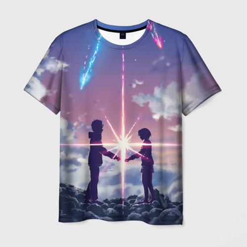 Мужская футболка 3D Your name_3
