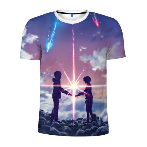 Мужская футболка 3D спортивная Your name_3