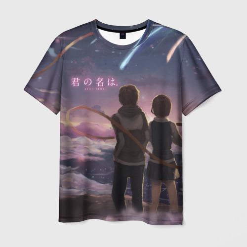 Мужская футболка 3D  Твое имя_4
