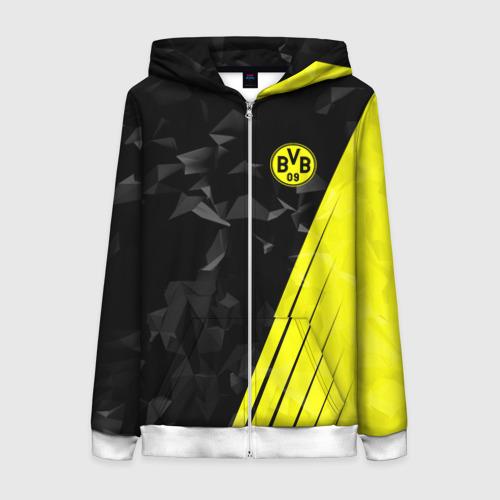 Женская толстовка 3D на молнии FC Borussia 2018 Abstract