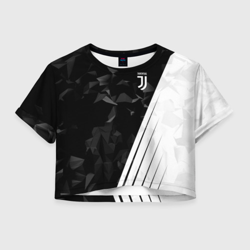 Женская футболка Crop-top 3D JUVENTUS / ЮВЕНТУС