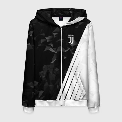 Мужская толстовка 3D на молнии Juventus 2018 Abstract