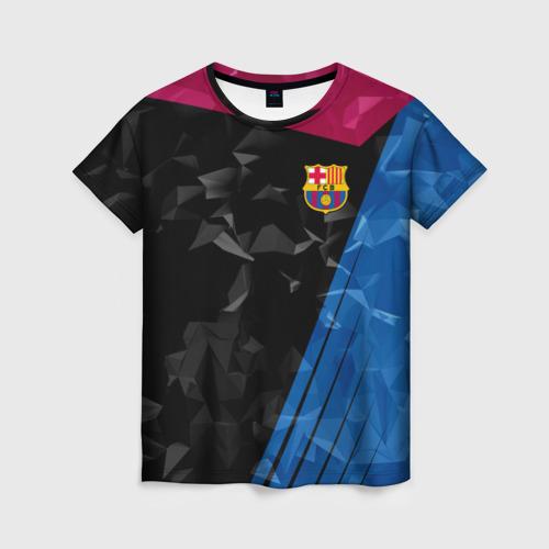 Женская футболка 3D FC BARCELONA