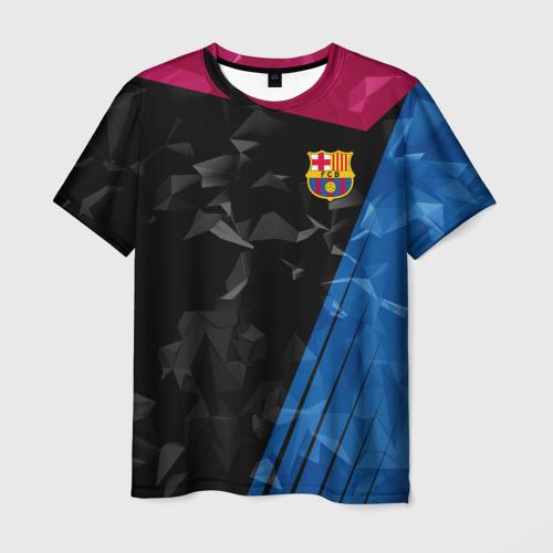 Мужская футболка 3D FC BARCELONA