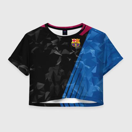 Женская футболка Crop-top 3D FC BARCELONA