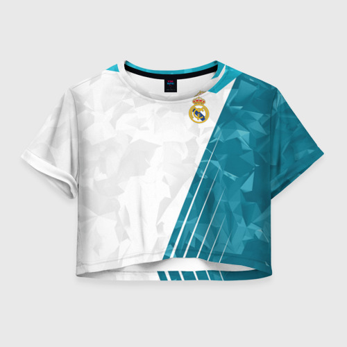 Женская футболка Crop-top 3D Real Madrid 2018 Abstract