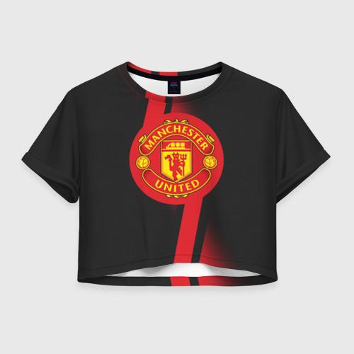 Женская футболка Crop-top 3D F.C.M.U 2018 Storm