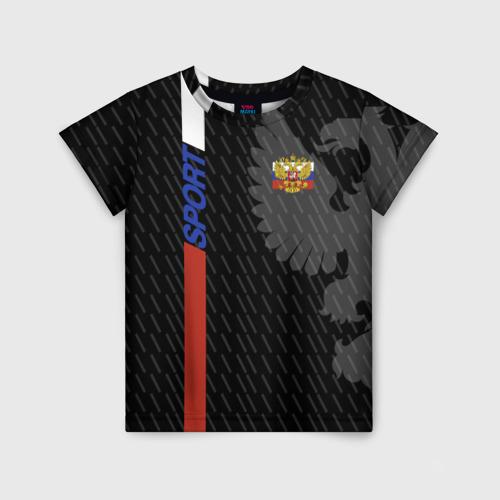 Детская футболка 3D RUSSIA - Black Collection