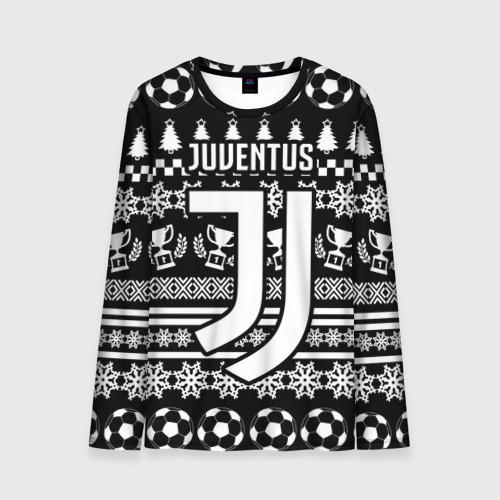 Мужской лонгслив 3D Juventus 2018 Новогодний