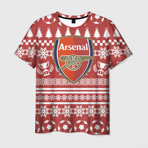 Мужская футболка 3D FC Arsenal Новогодний