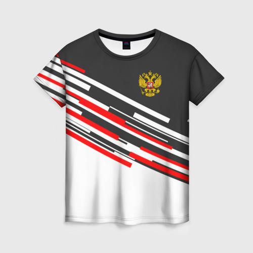 Женская футболка 3D RUSSIA - Black and White