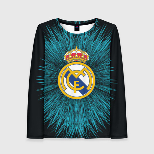 Женский лонгслив 3D Real Madrid 2018 Abstract