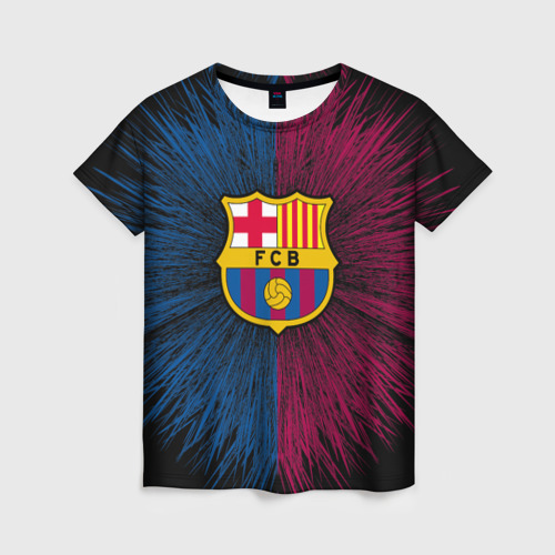 Женская футболка 3D FC Barca 2018 Creative uniform