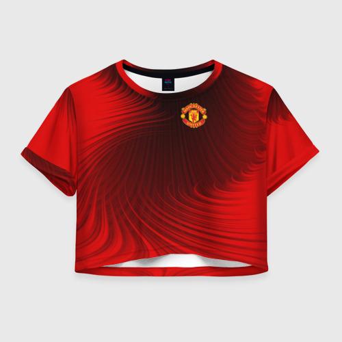 Женская футболка Crop-top 3D F.C.M.U 2018 Creative Uniform