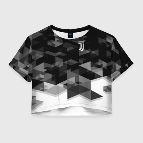 Женская футболка Crop-top 3D JUVENTUS GEOMETRY SPORT