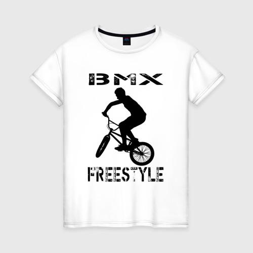 Женская футболка хлопок BMX FreeStyle