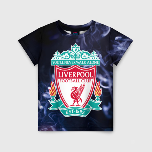 Детская футболка 3D Ливерпуль дым