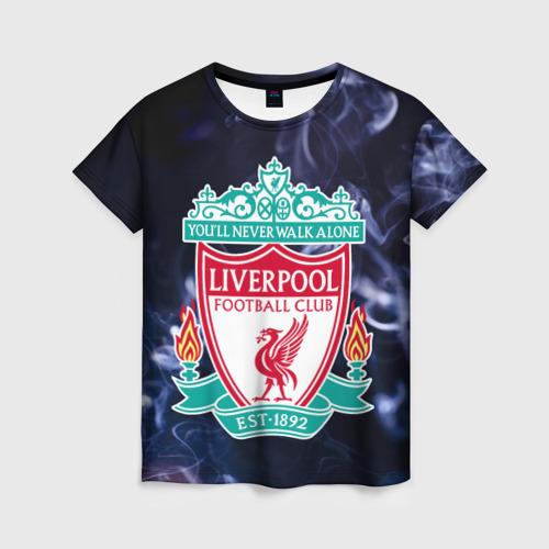 Женская футболка 3D Ливерпуль дым