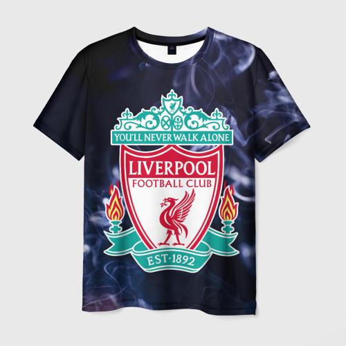 Мужская футболка 3D Ливерпуль дым