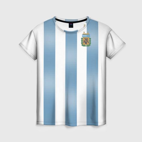 Женская футболка 3D Аргентина ЧМ 2018