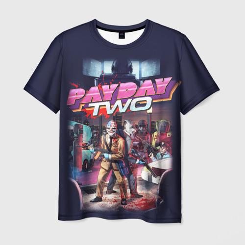 Мужская футболка 3D Payday_3