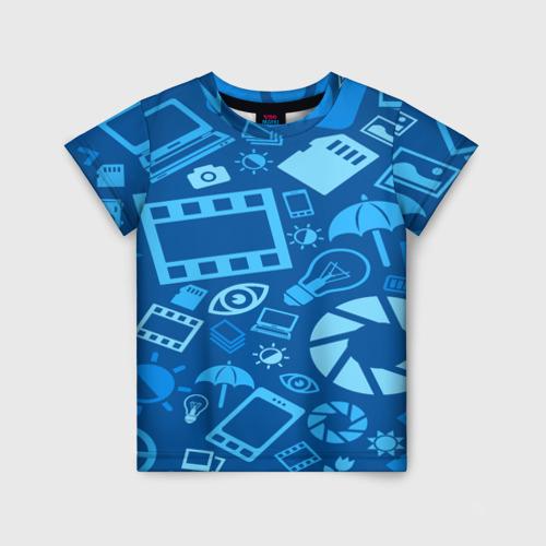 Детская футболка 3D Фотограф pattern