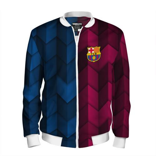 Мужской бомбер 3D FC Barca 2018 Creative uniform