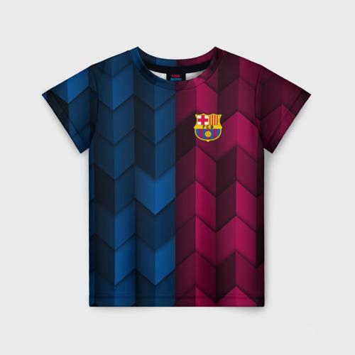 Детская футболка 3D FC Barca 2018 Creative uniform