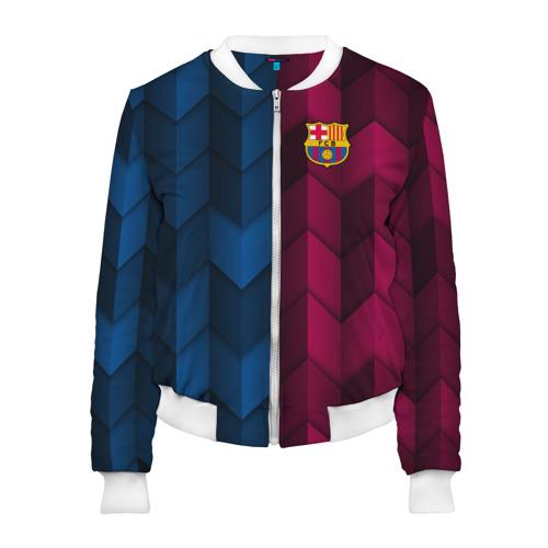 Женский бомбер 3D FC Barca 2018 Creative uniform
