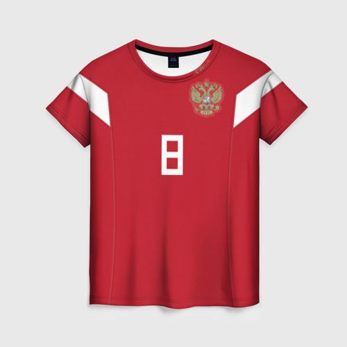 Женская футболка 3D Глушаков ЧМ 2018
