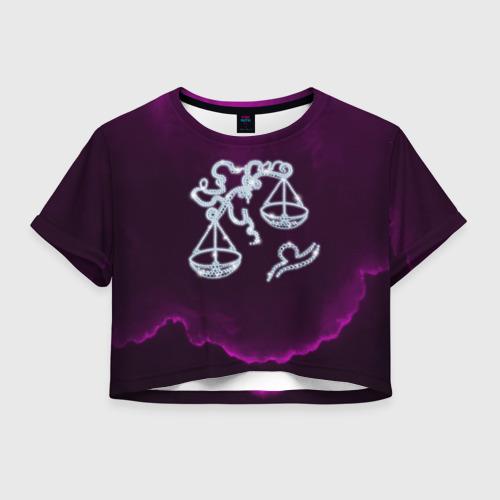 Женская футболка Crop-top 3D Весы