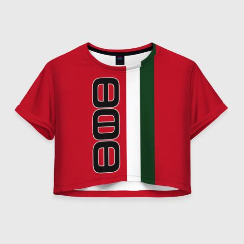 Женская футболка Crop-top 3D ФК УФА 3