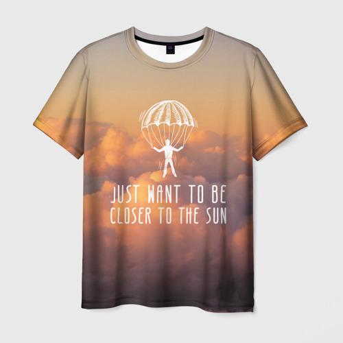 Мужская футболка 3D skydive