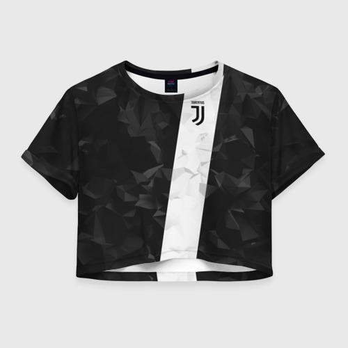 Женская футболка Crop-top 3D Juventus 2018 Line