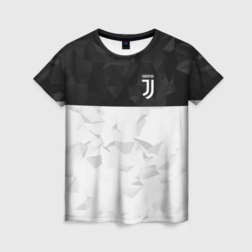 Женская футболка 3D Juventus 2018 Black and White