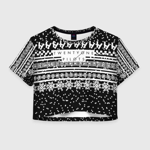 Женская футболка Crop-top 3D Свитер Twenty One Pilots