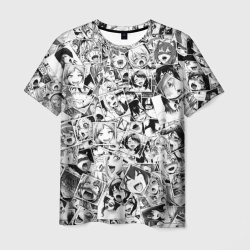 Мужская футболка 3D Ahegao faces pattern