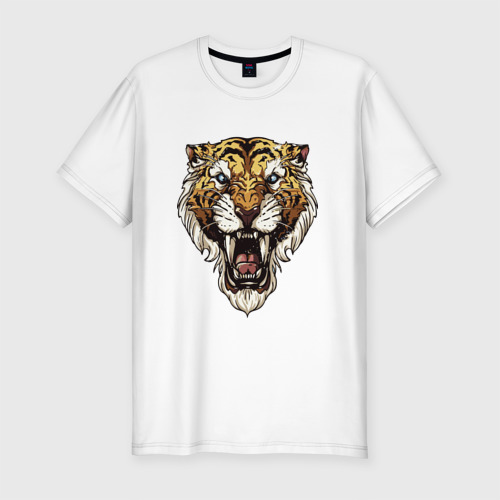 Мужская футболка хлопок Slim Тигр тигр тигрррррррр