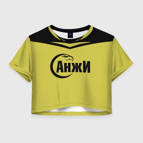 Женская футболка Crop-top 3D Анжи Махачкала