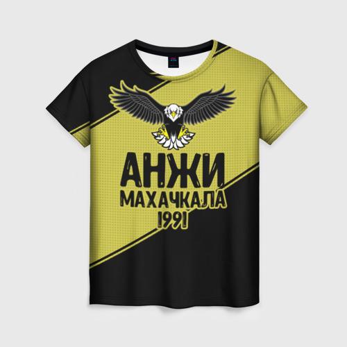 Женская футболка 3D Анжи Махачкала 2
