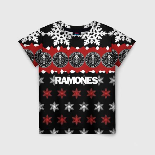 Детская футболка 3D Праздничный Ramones